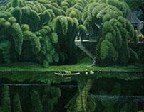 """中国·川西田园风光""""油画(2)"""