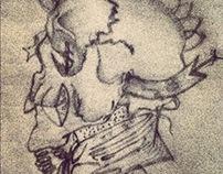 Skull pencil illustration