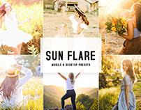 Sun Flare Mobile & Desktop Lightroom Presets