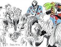 dessins de concerts LIVE concert drawings! 2015