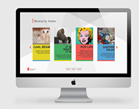 National Art Gallery Webdesign