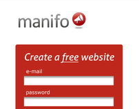 manifo.com (identity, web design and interface)