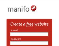 manifo.com (identity, web design and interface)