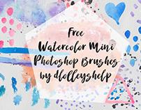FREE WATERCOLOR MINI PHOTOSHOP BRUSHES