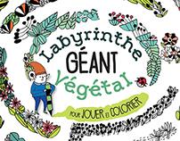 Labyrinthe végétal à colorier