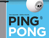 Set Of Poster Designs For A Ping Pong Themed Party