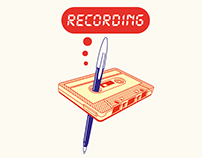 """Recording"" Illustration"