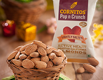 Cornitos Almonds Packaging Designed by LogoPeople India