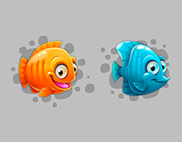 """Icons for games """"Mermaid"""""""