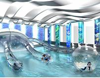 Interior design of health  complex and dolphinarium