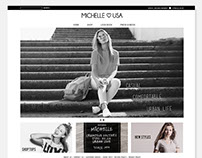 Michelleusa -Fashion website Design
