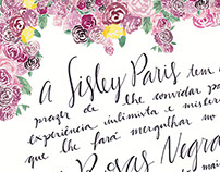 Sisley Paris - Watercolor and Hand Lettering