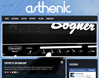 Website for ASTHENIC Rock Band