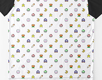 Snes pixel pattern t-shirts