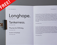 The FREE Orkney Typeface with 400+ Glyphs