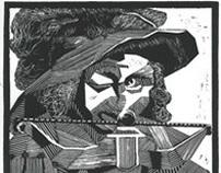 Le Chassuer / linocut print