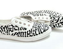 Calligraphy Shoes by Likhawat.