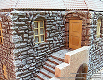 Stone house - hand made maquette