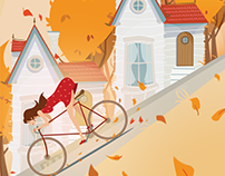 Girl riding a bicycle- Udemy course