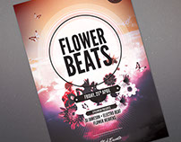 Flower Beats Flyer Template