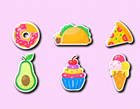 Vector painted Fast food Free PNG and Vector