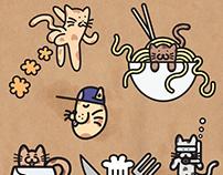 CUTE CAT ILLUSTRATIONS