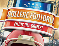 College Football Flyer - No Model Photo Needed!