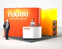 Ruukki metals exhibition stand