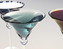 3D Martini Glasses