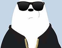 BTS Suga x We Bare Bears Ice Bear