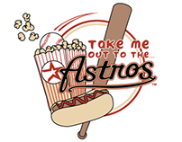 Houston Astros Baseball Club Illustration