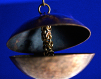 Clamshell Pendant and Chain