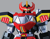 Interactive MEGAZORD DIAGRAM