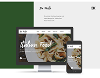 Italian fast food restaurant Branding and web-design