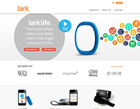 Lark.com Health & Wellness Technology Website Design