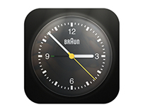 Braun Alarm Clock Icon