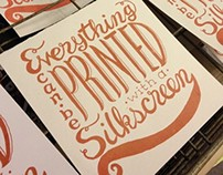 Personal Screen Print Projects