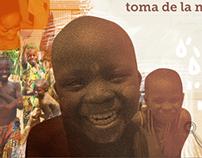 Cartel y tríptico ONG. Benin