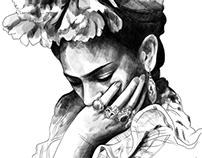 Frida - a pencil portrait