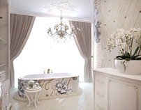 Bathroom in a classic style
