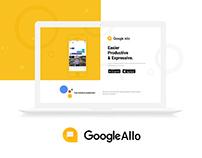 Google Allo | App Landing Page (concept)