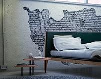 Dormitorio industrial día - noche.