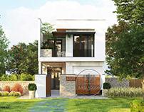 Mẫu thiết kế nhà phố đẹp 2 tầng hiện đại tại Vĩnh Long