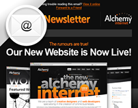 HTML Newsletter for Alchemy Internet