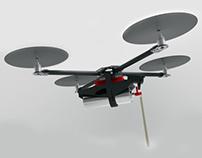 X-PAND/ Portable, foam extruding, quadcopter 3D printer