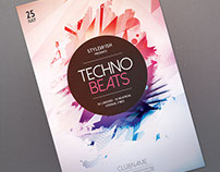 Techno Beats Flyer