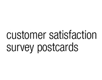 custom satisfaction survey postcards
