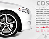 Chromodora Wheels - Parallax Website design