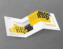 Free Square Trifold Brochure PSD MockUp in 4k