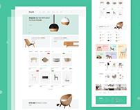 Furniture e-Commerce Website Landing Page Exploration